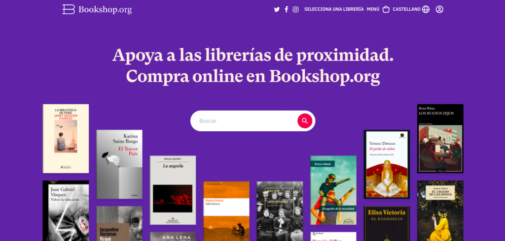pagina inicio bookshop.org
