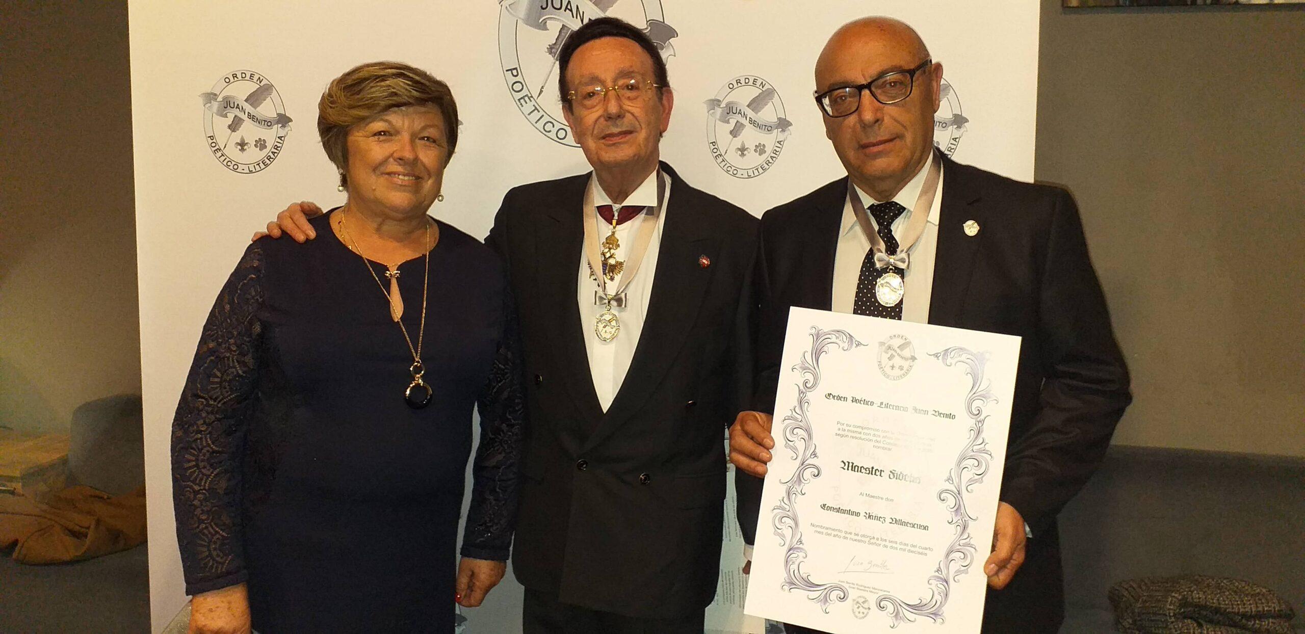 Conoce a Constantino Yáñez Villaescusa, Maestre fundador y embajador de la Real Orden Poético-literaria Juan Benito.