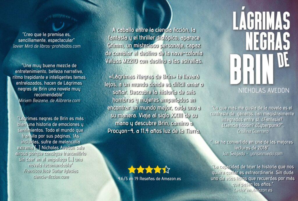 Lágrimas negras de Brin - Cartel - Formato W
