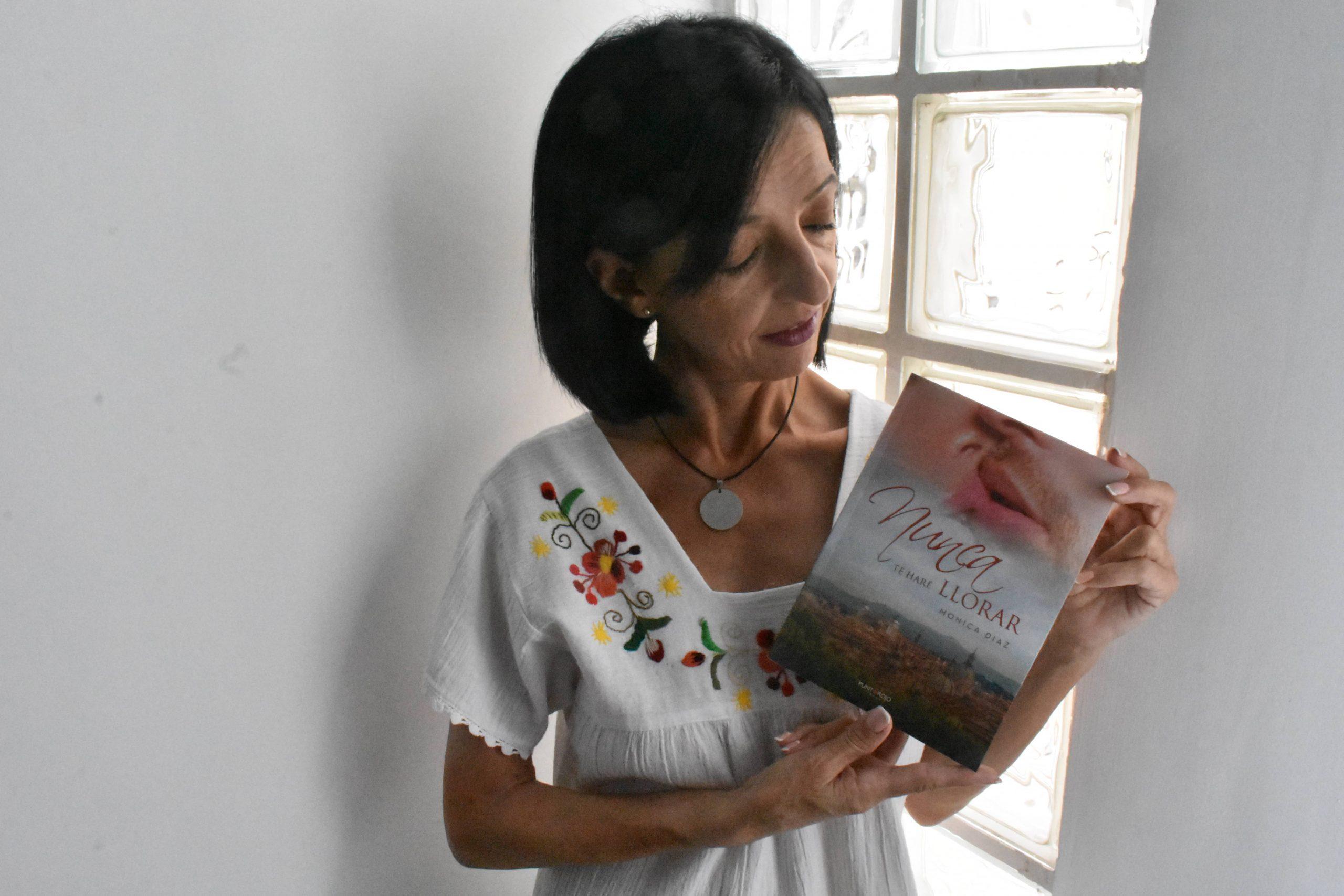 Mónica Díaz, escritora y ,sobre todo, una luchadora, autora de «Nunca te haré llorar»